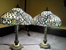 tiffany lamps stained glass marbel base