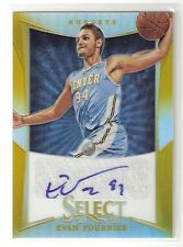 Evan Fournier 12/13 Select Gold Refractor Auto RC #189 SN #06/10