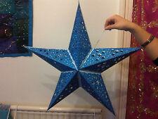 Diwali, Noël & Marriage 5 Points étoile Abat jour Bleu - Découpe étoiles