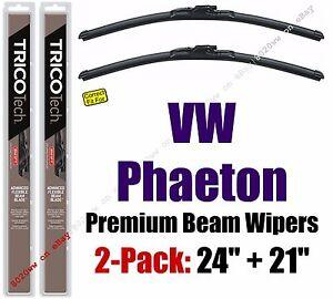 Wipers 2pk Premium Wiper Beam Blades fit 2004-2006 Volkswagen Phaeton 19240/210