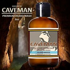 Handcrafted Caveman® Beard Wash Shampoo (Island Breeze) 8oz