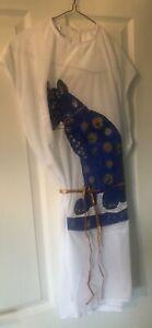 Abba Cat Motif Dress For Fancy Dress