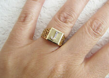J Initial Signet 14K gold ring size 6 (two tones white gold and yellow gold)