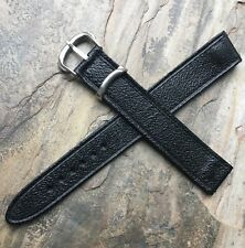 Long 1940s Moroccan Leather 18mm open-ended vintage watch strap rare clip type