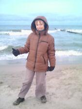 schöne, windfeste dickere Jacke Gr. 164 dunkelbraun