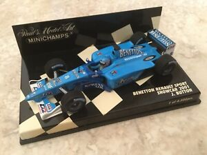 Jenson Button🇬🇧2001 Benetton Renault B201,Minichamps 1:43