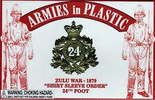 Armies in Plastic Zulu War (1879) British 24th Foot Short Sleeve 1/32 Scale 54mm