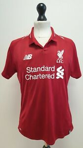 LIVERPOOL FC STANDARD CHARTERED RED 18-19 HOME FOOTBALL SHIRT UK 14 US 10 EU 40