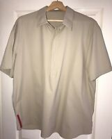 Prada Sport Khaki polo Shirt XL