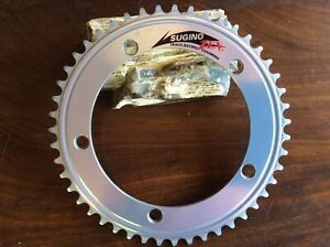 """Sugino Zen Chainring Silver NJS 47T 5-Bolt 144mm 1/2x1/8"""" In Excellent Condition"""
