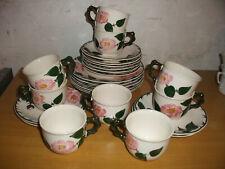 V&B  Wildrose Kaffeegedecke  6 Gedecke 3 tlg + 3 Tassen + 4 Unterteller extra