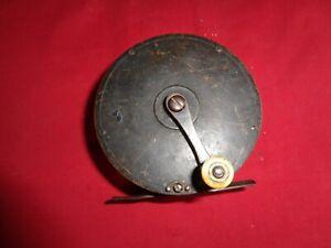 Early Brass Crankwind Fly Winch / Reel. Irish/Scottish , Pinned Pillers.