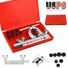 7 Dies Double Flare Tube Brake Lines Pipe Air Condition Tool Flaring Set w/Box