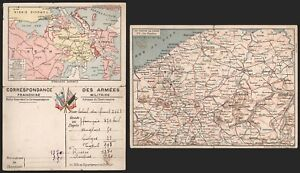 Belgium WWI - Map Postcard C231