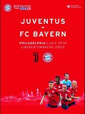Programme Juventus Italy v Bayern Germany 2018 in USA. Unofficial