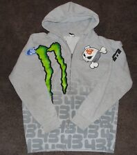 Ken Block Ford DC Shoes Monster Emergy Gray Sweatshirt Zip Up Hoodie Large