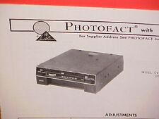 1975 CARTAPE 8-TRACK STEREO TAPE PLAYER/FM MPLX RADIO SERVICE MANUAL CT-3604