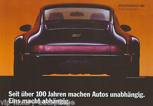 Porsche Poster 911 Coupe Typ 964 Jubi 30 Jahre Reprint 2013 Größe: 42 x 59,5 cm