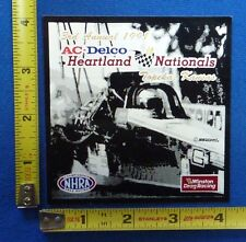 1991 NHRA AC Delco Heartland Nationals Decal Sticker~Topeka~Winston Drag Racing