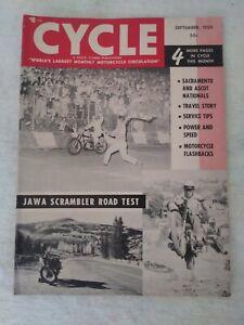 VINTAGE CYCLE MAGAZINE MOTORCYCLE SEPTEMBER 1959 HARLEY SACRAMENTO NATIONALS