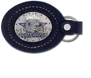 Dallas Cowboys NFL large leather key ring keychain