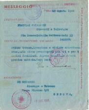 PRIGIONIERI POW CROCE ROSSA INTERNAZIONALE GENEVE 1944 PALERMO MESSAGGIO GENOVA