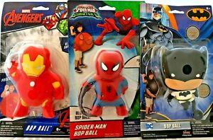 NEW Bop Balls-Marvel,Spiderman,DC,Batman,Avengers,Hulk,Paw Patrol,Chase,Marshall