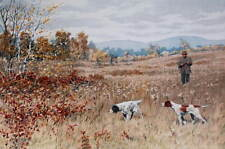 vintage art by A.B. Frost Hunter with dogs in autumn