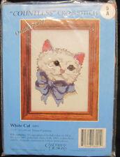 Candamar Designs White Cat Countless Cross Stitch Kit #6001 5x7