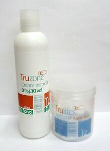 SETS OF TRUZONE CREAM PEROXIDE 9%30 vol 250ML & RAPID BLUE HAIR BLEACH !!DEAL!!