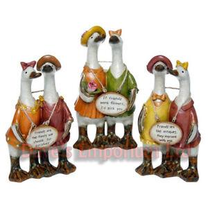 Complete Set of Friends Message Ducks - Davids - Girlfriend Ornament Gift