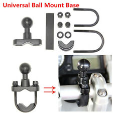 "Motorcycle Handlebar 1"" 7/8"" Ball Mount Base For Garmin Zumo 450 550 GPS Cradle"