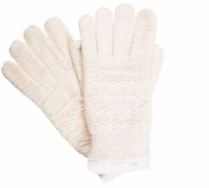 $120 Isotoner Women'S White Sparkle Gloves Knit Smartouch Warm Winter One Size