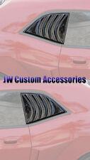 08-16 Challenger GTS Smoke Acrylic Quarter 1/4 Window Louvers Covers Pr GT4816S