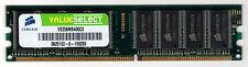 Corsair VS256MB400C3 (256MB DDR PC3200 400MHz DIMM 184-pin 8-Chip)
