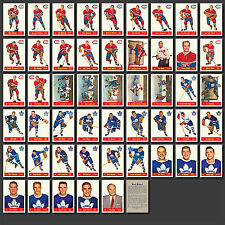 1957-58 Parkhurst Complete Set Reprint (50 cards) Mint, In Pocket Sheet Album