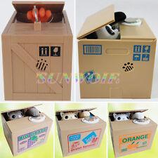 Stealing Coin Money Box Animal Cat Panda Piggy Banks Storage Saving  Kids Toy