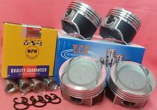 YCP 75.5mm Vitara Pistons Teflon Coated Low Comp + NPR Rings For Honda D16 Turbo