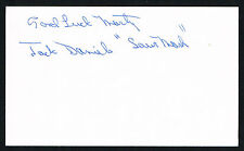 Jack Daniels (d. 2013) signed autograph 3x5 index card Baseball Player H2265