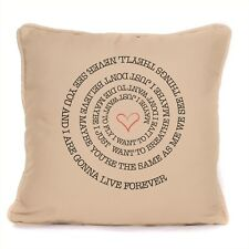 Oasis Live Forever Song Lyrics Cushion With Pad Included Swirl Design
