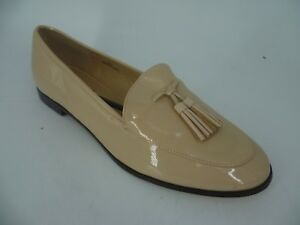 London Rebel Ladies Patent Tassle Loafer Nude UK 8 EU 41 LN089 AC 05