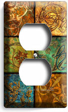 ITALIAN PATCHWORK TILES PRINT DUPLEX OUTLET WALL PLATE ART COVER KITCHEN DECOR