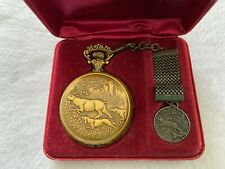 Westclox Mechanical Wind Up Vintage Pocket Watch with FOB and Case
