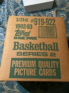 1992-93 Topps Series 2 Basketball Rack Pack 3-Box Case UNTOUCH UNTIL NOW MINT
