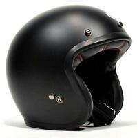BELL CUSTOM 500 - MATTE BLACK SOLID - OPEN FACE RETRO HELMET
