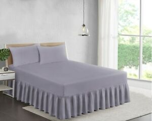DEEP ( 25 CM BOX + 40 CM DROP ) 4FT - SMALL DOUBLE FRILLED FITTED VALANCE SHEET