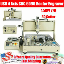 New Listingusb 4 Axis Cnc 6090 Router Engraver 15kw Vfd 3d Cutter Drilling Milling Machine