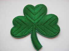 "Large Irish Shamrock Iron On Patches Appliques 7.5cm (3 1/4"")  St Patrick's Day"