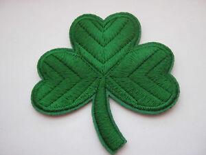 "Large Irish Shamrock Patch Iron On Appliques 7.5cm (3 1/4"")  St Patrick's Day"