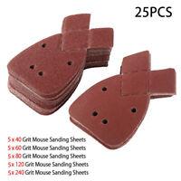 40 Maus Schleifplatte Für Black /& Decker Detail Palm Sander 40,60 80 /&120 Grit